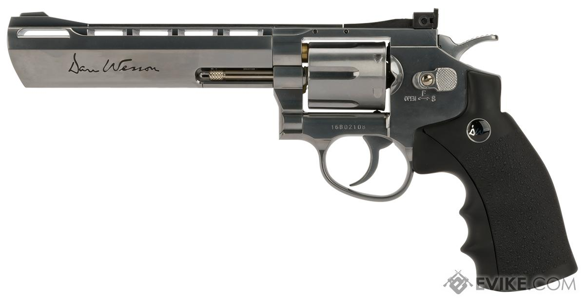 Dan Wesson CO2 Powered .177 Pellet Revolver with 6 Revolver - Silver (.177 Caliber AIRGUN NOT AIRSOFT)