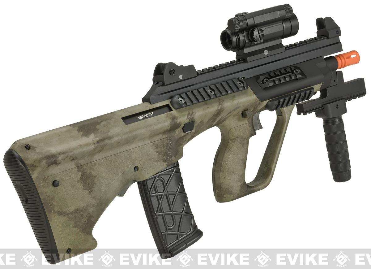 ASG Licensed Steyr AUG A3 XS Commando Airsoft AEG Rifle (Color: A-TACS AU)