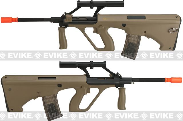 Evike.com Exclusive ASG Licensed Steyr AUG A1 Airsoft AEG Rifle w/ Military Style Scope (Color: Tan)
