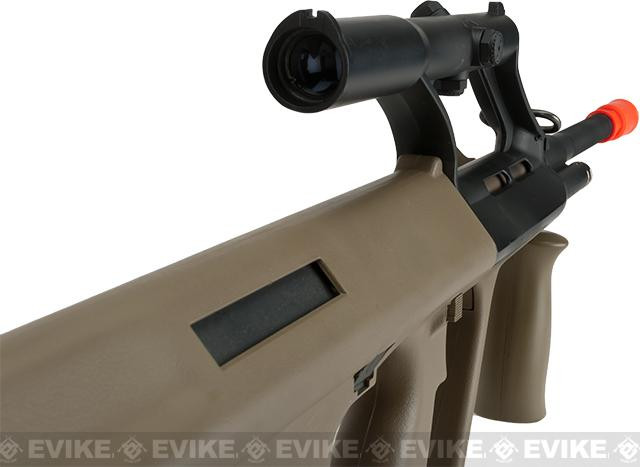 Evike.com Exclusive ASG Licensed Steyr AUG A1 Airsoft AEG Rifle w/ Military Style Scope - Tan