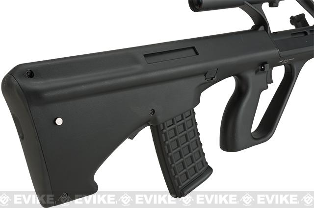 Evike.com Exclusive ASG Licensed Steyr AUG A1 Airsoft AEG Rifle w/ Military Style Scope - Black