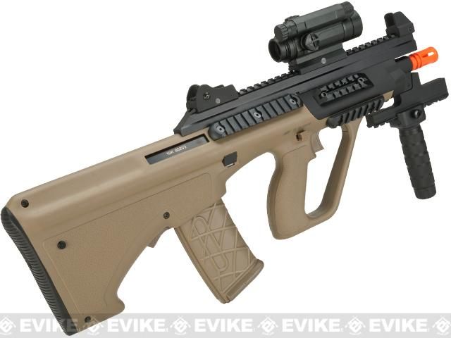 ASG Licensed Steyr AUG A3 XS Commando Airsoft AEG Rifle (Color: Tan)