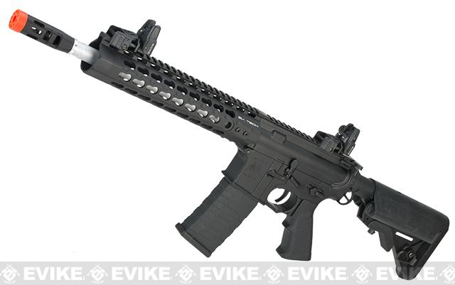 APS Silver Edge Gearbox Full Metal 10 M4 Airsoft AEG Rifle (Color: Black)