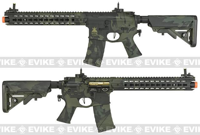 APS Boar Tactical Advanced Edition Custom Silver Edge Gearbox Full Metal EBB AEG - Black Multicam