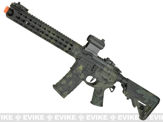 APS Boar Tactical Advanced Edition Custom Silver Edge Gearbox Full Metal EBB AEG - Black Multicam