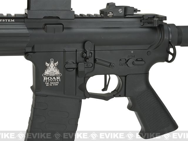 APS ASR-117 Boar Tactical Silver Edge 17 KeyMod Airsoft AEG - Black