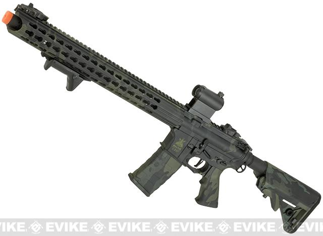 APS ASR-117 Boar Tactical Silver Edge 17 KeyMod Airsoft AEG (Color: Multicam Black)
