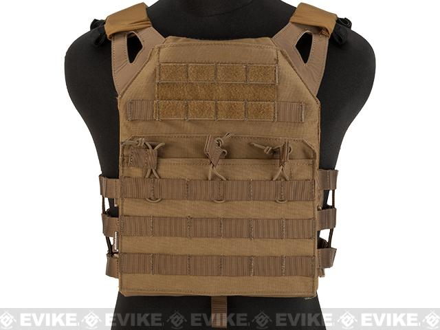 Avengers Compact Airsoft High Speed JPC Plate Carrier (Color: Tan / Adult)