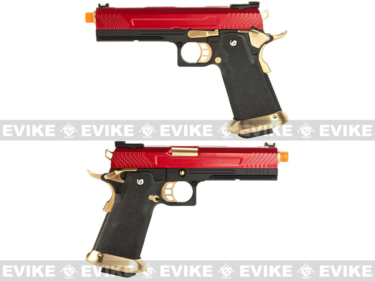 Pre-Order ETA January 2017 AW Custom Hi-Capa Competition Grade Gas Blowback Airsoft Pistol - Red/Gold