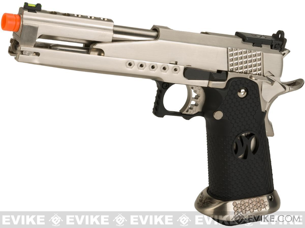 AW Custom AW-HX2201 Gold Standard IPSC Gas Blowback Airsoft Pistol - Silver