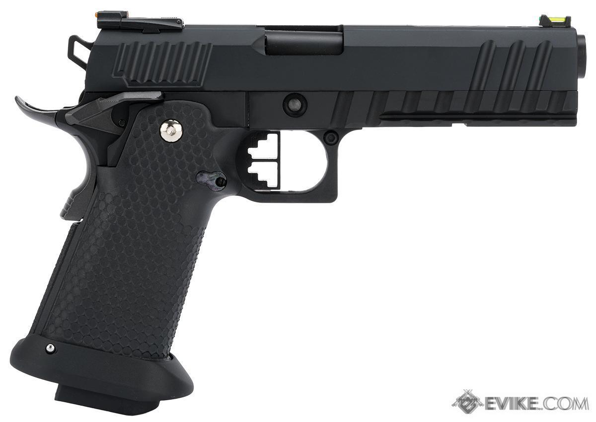AW Custom Black Ace Hi-Capa Gas Blowback Airsoft Pistol