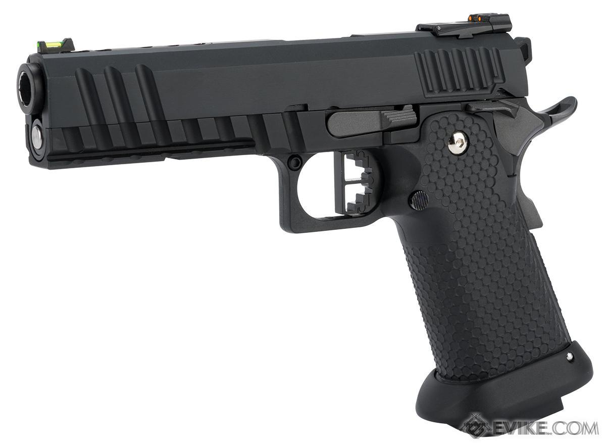 AW Custom Black Ace Hi-Capa Gas Blowback Airsoft Pistol