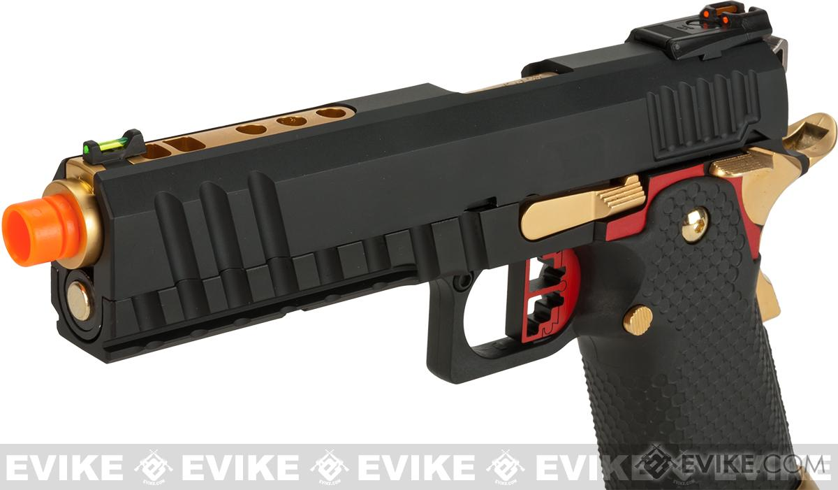 AW Custom Competitor Hi-Capa Gas Blowback Airsoft Pistol - Black
