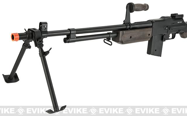 BAR M1918 A2 Full Size Full Metal Airsoft AEG Rifle w/ Steel Bipod and Real Wood by Matrix