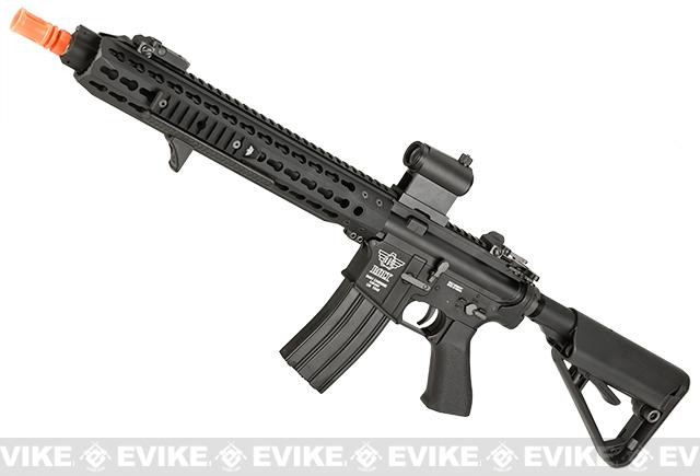 BOLT Keymod M4 B-4 Full Metal Recoil EBB Airsoft AEG Rifle - Black