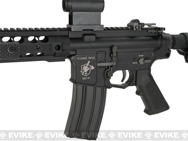 BOLT B4 Knights Armament Official Licensed SR16 URX-3 2015 Enhanced B.R.S.S. Full Metal EBB Airsoft AEG Rifle - Black