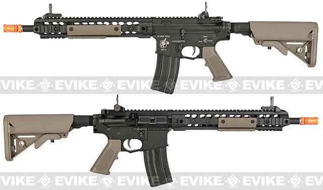 BOLT M4 B-4 Knights Armament SR-16 URX 3.1 Full Metal Recoil EBB Airsoft AEG Rifle - Black / Tan