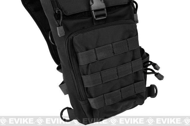 Lancer Tactical Light Weight Hydration Carrier w/ Molle (Color: Black)