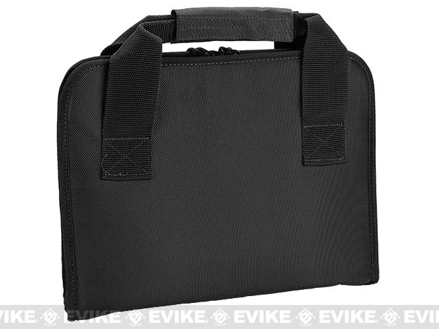 Evike.com 12x14 padded double pistol handgun universal carrying case - Black