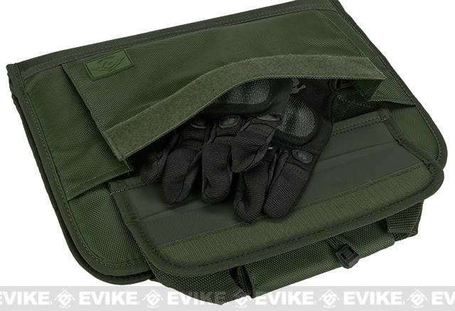 Evike.com 12x14 padded double pistol handgun universal carrying case - OD Green