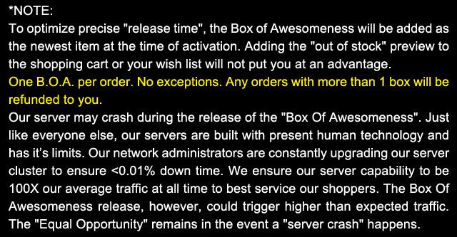 The Box of Super Awesomeness Celebration - Black Friday Door Buster (Edition: 2012 BLACK FRIDAY)