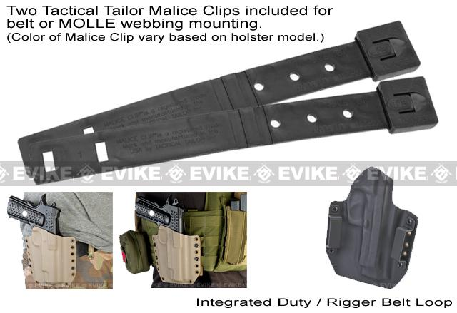 z KAOS Concealment Belt / MOLLE Kydex Holster for Glock 17 (Right / Black)