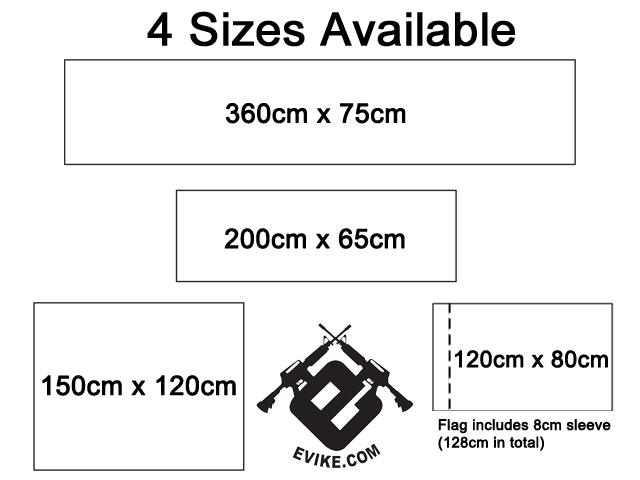 Evike.com Airsoft IFF Field Small Size Banner - 150cm x 120cm