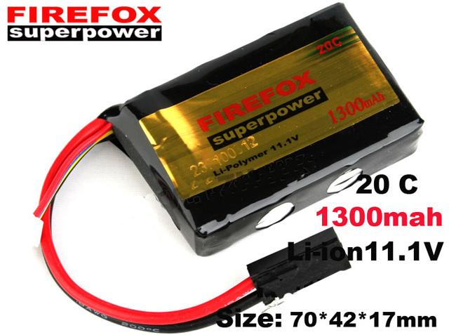 z Firefox 11.1V 1300mAh 20C Airsoft Lipo Battery