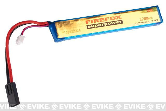 Firefox 7.4V 1200mAh 20C Airsoft Li-po Battery (Stick / Type B)