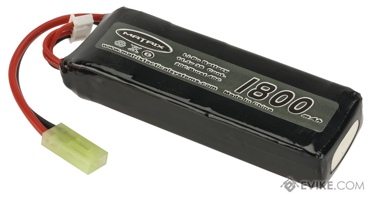 Matrix 11.1V 20C 1800mAh High Performance Airsoft Li-Poly Battery Pack