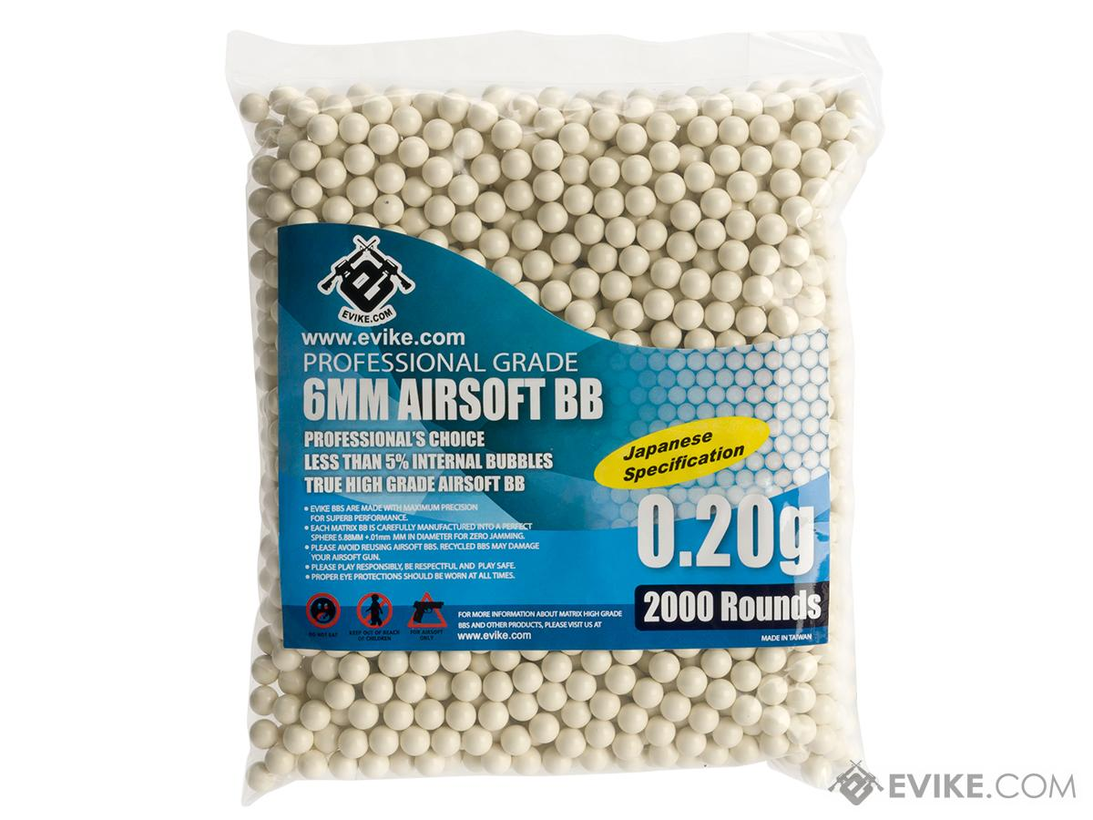 Evike.com 0.20g MAX Precision Japanese Spec 6mm Airsoft BB- 2000/ White