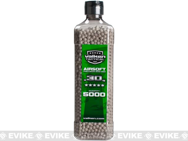 Valken Tactical Precision 6mm Airsoft BBs - 0.30g White (5000)