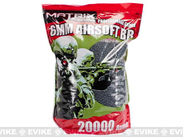 Matrix 0.20g Match Grade 6mm Airsoft BB Bulk Buy Bag- 20,000 / Black