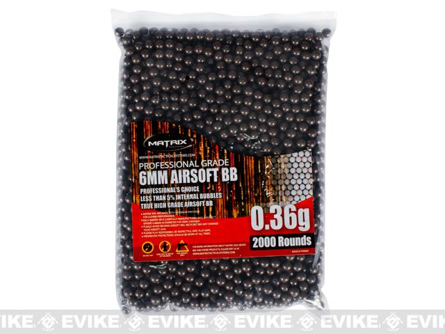 0.36g Invisible Match Grade Sniper 6mm Airsoft BBs by Matrix - 2,000 Rounds