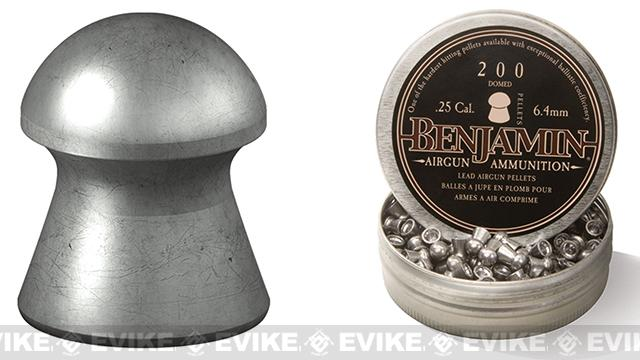 Benjamin .25 Cal. Domed Point Pellets - 27.9 Grain (200 Count)