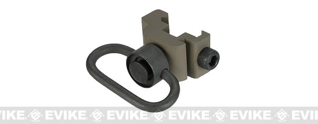 Matrix Steel QD Sling Swivel for 20mm Rail / Weaver / Picatinny Rails - Dark Earth