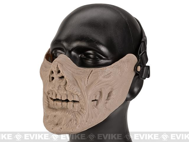 Avengers Zombie Iron Face Lower Half Mask - Tan