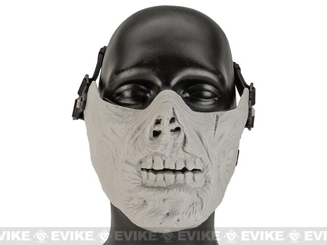 Avengers Zombie Iron Face Lower Half Mask - Bone Grey