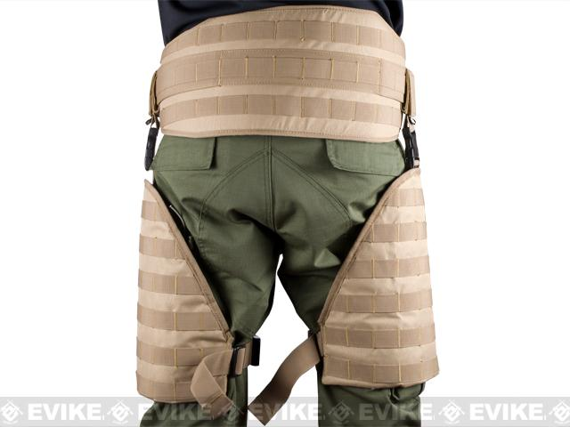 Matrix Tactical Systems MOLLE Lumbar Belt & Leg Protection System w/ Thigh Rig (Black)