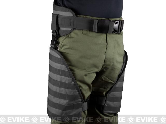 Pre-Order ETA July 2016 Matrix Tactical Systems MOLLE Lumbar Belt & Leg Protection System w/ Thigh Rig (Black)