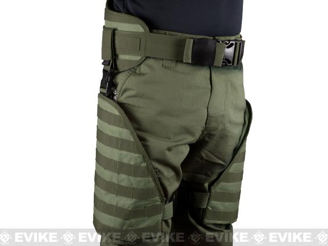 Matrix Tactical Systems MOLLE Lumbar Belt & Leg Protection System w/ Thigh Rig (OD Green)