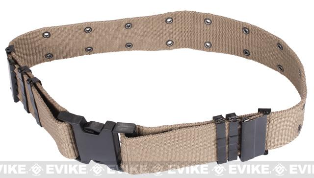 Military Style Type Alice Sys. Quick Release Tactical Pistol Belt - Khaki