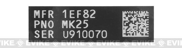 Blackjacks Weapon Code Label - MK25/P226R