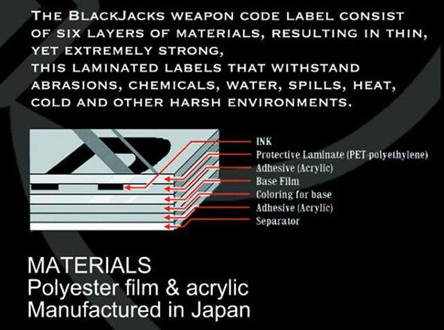 Blackjacks Weapon Code Label - MK24/P226