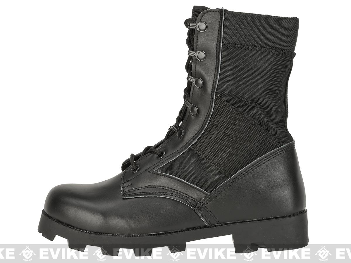 Rothco G.I. Type  Speedlace Jungle Boots - Black (Size: 12)