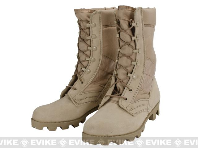 z Rothco G.I. Type Desert Sierra Sole Speedlace Jungle Boots (Tan) - Size: 3