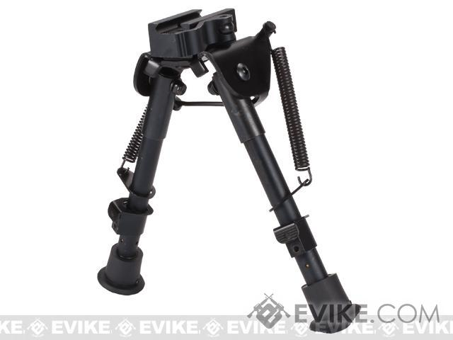 Evike.com All-Platform Real Steel Retractable Harris Type Bipod (RIS + Stud Sniper Mount)