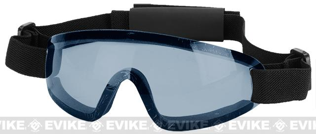 Bravo Tactical LP Low Profile Airsoft Gaming Sports Goggles - Blue Lens
