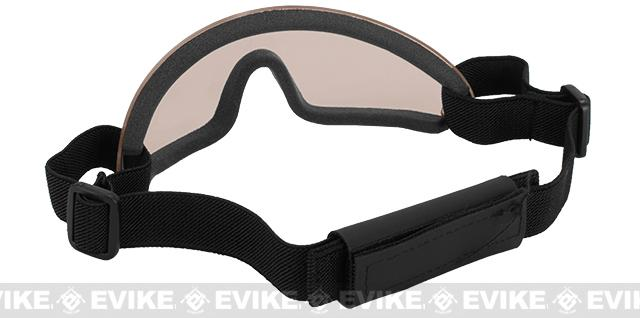 Bravo Tactical LP Low Profile Airsoft Gaming Sports Goggles - Brown Lens