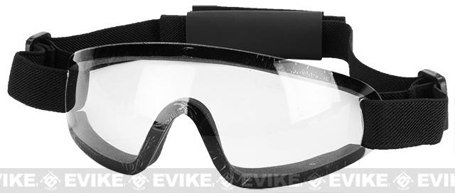 Bravo Tactical LP Low Profile Airsoft Gaming Sports Goggles - Clear Lens